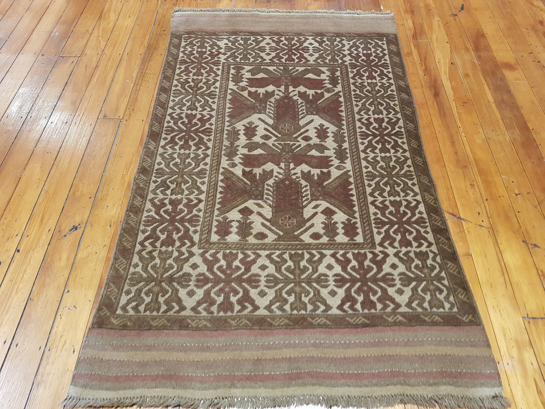 Hand knotted wool Rug 1143 size 193 x 114 cm Afghanistan