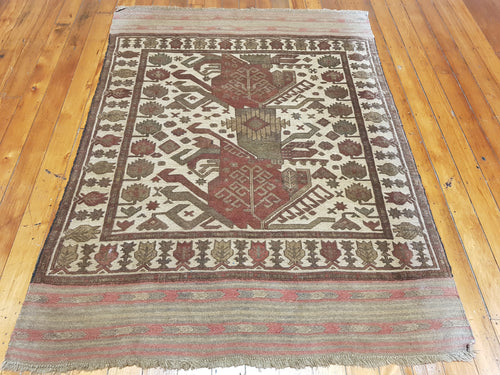 Hand knotted wool Rug 1131  190 x 140 cm Afghanistan