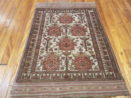 Hand knotted wool Rug 1127 size 182 x 126 cm Afghanistan