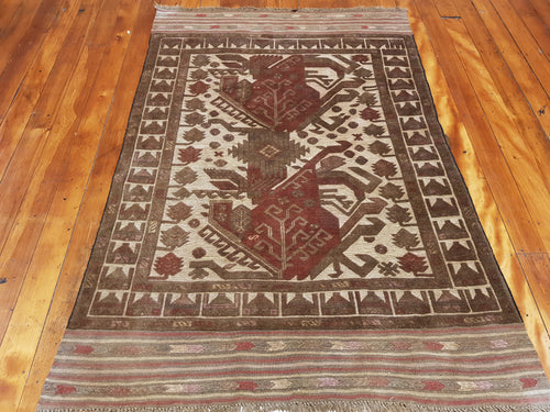 Hand knotted wool Rug 1135 size 200 x 100 cm Afghanistan