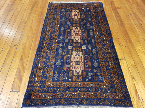 Hand knotted wool Rug 7677 size 200 x 100 cm Afghanistan