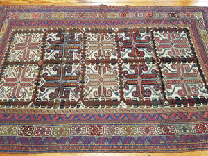 Hand knotted wool Rug 7696 size  278 x 177 cm Afghanistan