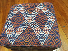 Load image into Gallery viewer, Hand knotted Kilem square seat Afghanistan