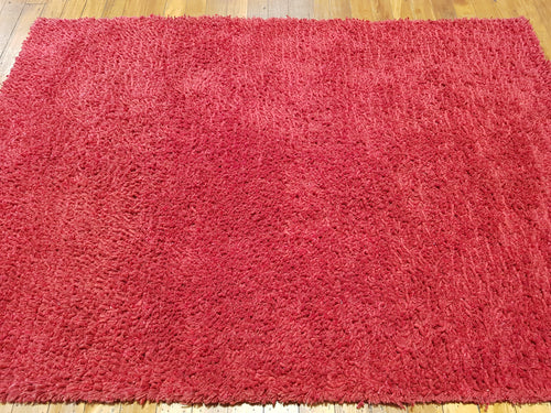 100% wool Super shaggy red size 160 x 230 cm