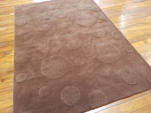100% wool rug Dew Drops Brown size 160 x 230 cm