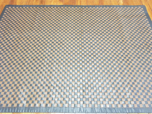 100% leather Basket weave size 160 x 230 cm India