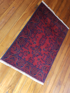 Hand knotted wool Rug 25 size 119 x 77 cm Afghanistan