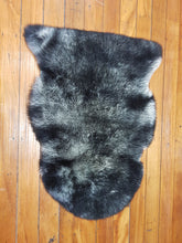 Load image into Gallery viewer, Moroccan sheep skin rug ,black & grey color