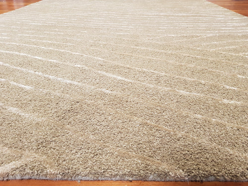100% wool rug Peel 2 Green size 200 x 290 cm
