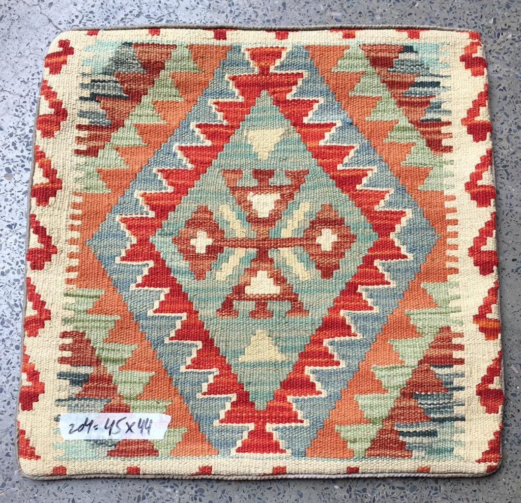 Hand knotted Cushion cover 13 size 44 x 45  cm Afghanistan