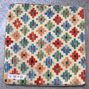 Hand knotted Cushion cover 3 size 45 x 46 cm Afghanistan