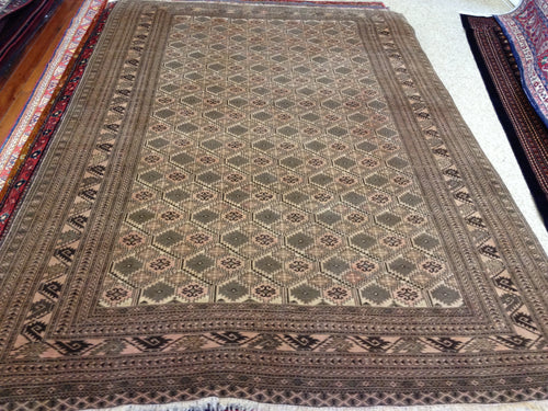 Rug 1271 size 291 x 198 cm,  SEMI ANTIQUE Afghanistan handmade rug, made with 100% wool pile, nice geometric rug with multi borders