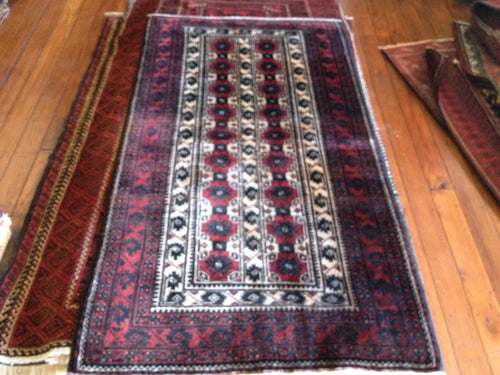 Hand knotted wool Rug 19645 size 195 x 104 cm Iran