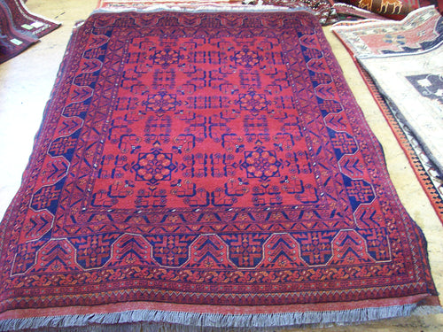 Hand knotted wool Rug 9062 size 196 x 150 cm Afghanistan