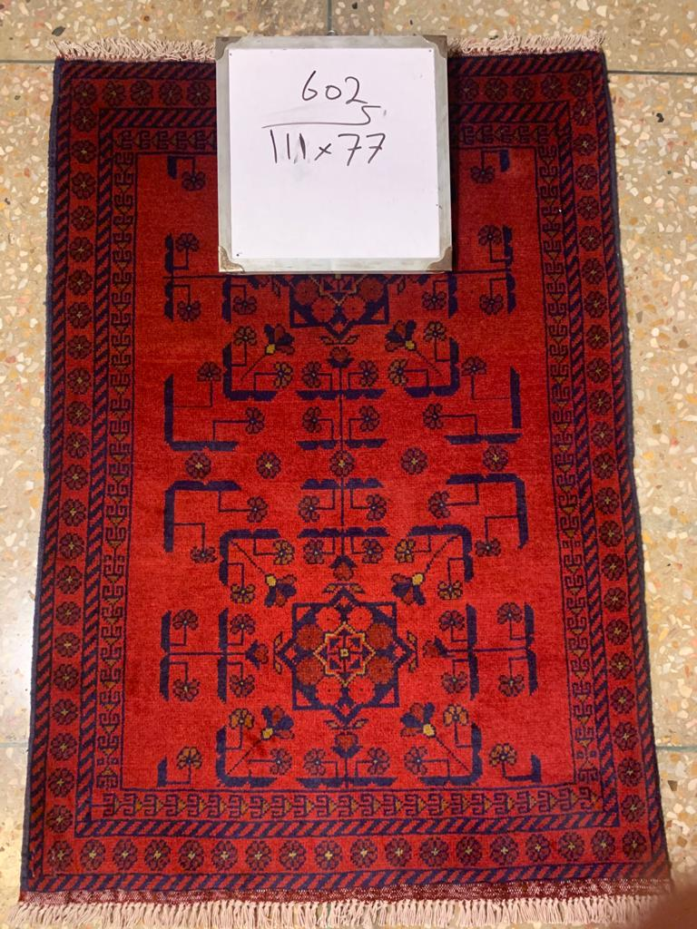 Hand knotted wool Rug 602 size 111 x 77 cm Afghanistan
