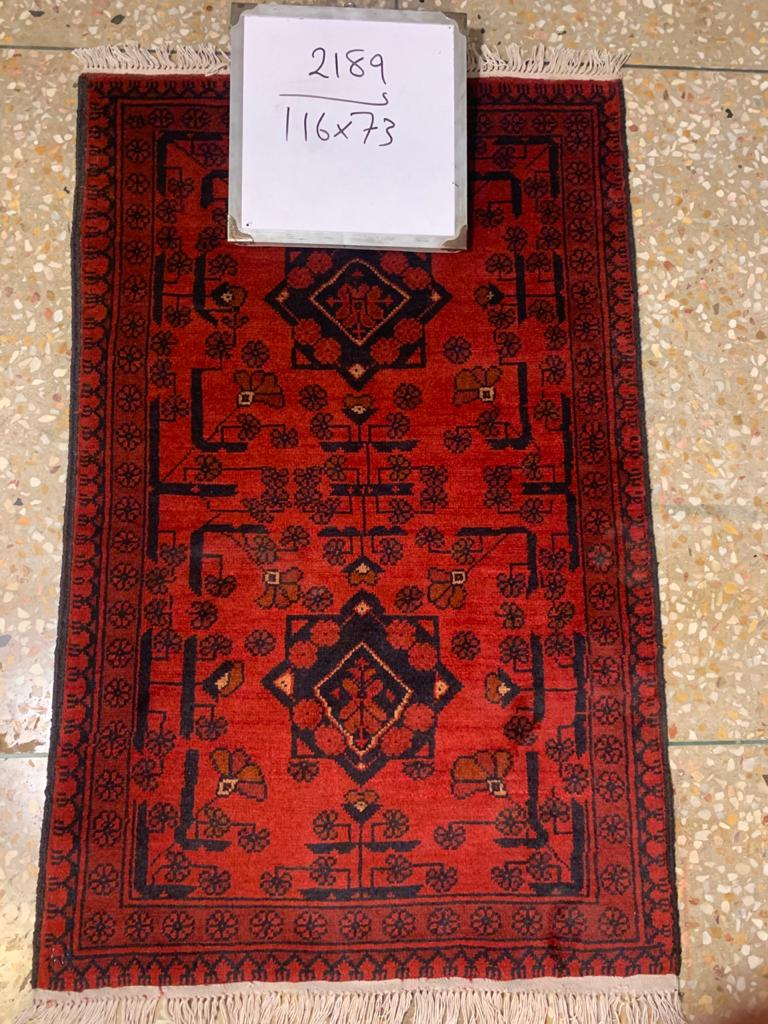 Hand knotted wool Rug 2189 size 116 x 72 cm Afghanistan