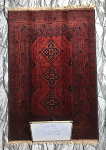 Hand knotted wool Rug 1443 size 150 x 102 cm Afghanistan