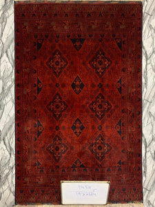 Hand knotted wool Rug 1456 size 189 x 125 cm Afghanistan