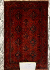 Hand knotted wool Rug 1445 size 193 x 124 cm Afghanistan