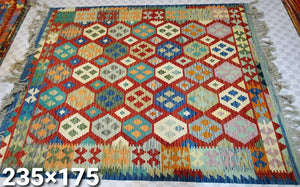 Hand knotted Kelim Rug 240185 size 240 x 185 cm Afghanistan