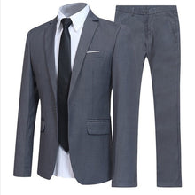 Load image into Gallery viewer, Plus Size Wedding Suit Set 2pcs Male Blazers Quality Slim Fit Suits for Men Costume Business Formal Party Blue Classic Blazer