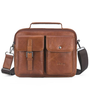 2019 Men's Vintage Leather Briefcase Business Cases Shoulder Messenger Crossbody Bag Handbag