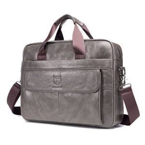 Black Men Bags Business Real Cow Genuine Leather Handbags Brown Computer Attache Case Briefcase Laptop Messenger Office 0009