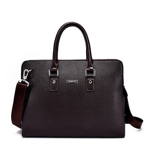2019 Casual Gentlemen Business Shoulder  Briefcase Vintage  Travel Bags Laptop PU Document Case Portfolio Messenger Bag for Male