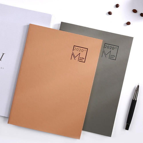 2020 Year Calendar Monthly Planner Months Diary Leather Organizer Office Notebook Agenda Business B5 Stationery Planner Per U0F3
