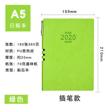Load image into Gallery viewer, 2020 calendar agenda work efficiency manual calendar notepad daily activity monthly plan business notebook stationery book