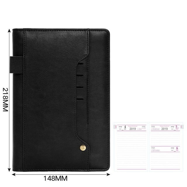 2019 Schedule Student Time Management Memorandum 365 Days Creative Daily Plan A5 Leather Laptop e-Business Calendar Notepad