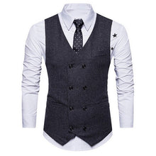 Load image into Gallery viewer, 3 Pieces Business Blazer +Vest +Pants Suit Sets Men Autumn Fashion Solid Slim Wedding Set Vintage Classic Blazers Male