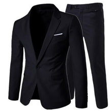 Load image into Gallery viewer, 2019 men's fashion Slim suits men's business casual clothing groomsman three-piece suit Blazers jacket pants trousers vest sets