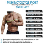 HWK Mesh Motorcycle Riding Air Jacket CE Armored Breathable