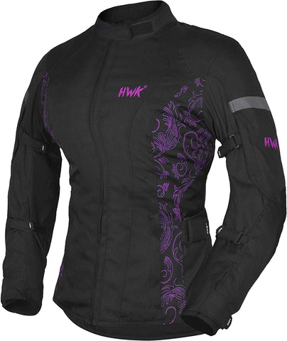 HWK Women's Motorcycle Jacket Waterproof CE Armored