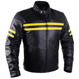 Black Moto Riding Racing Retro Biker Jacket CE Armored