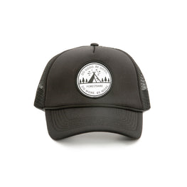 """Do Good. Be Good"" Black Trucker Hat"