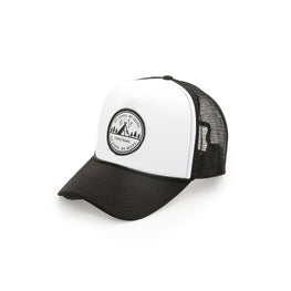 """Do Good. Be Good"" B/W Trucker Hat"