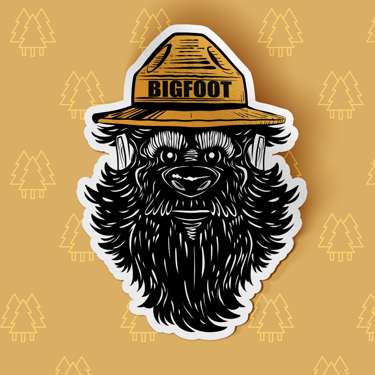 Park Ranger Bigfoot Sticker