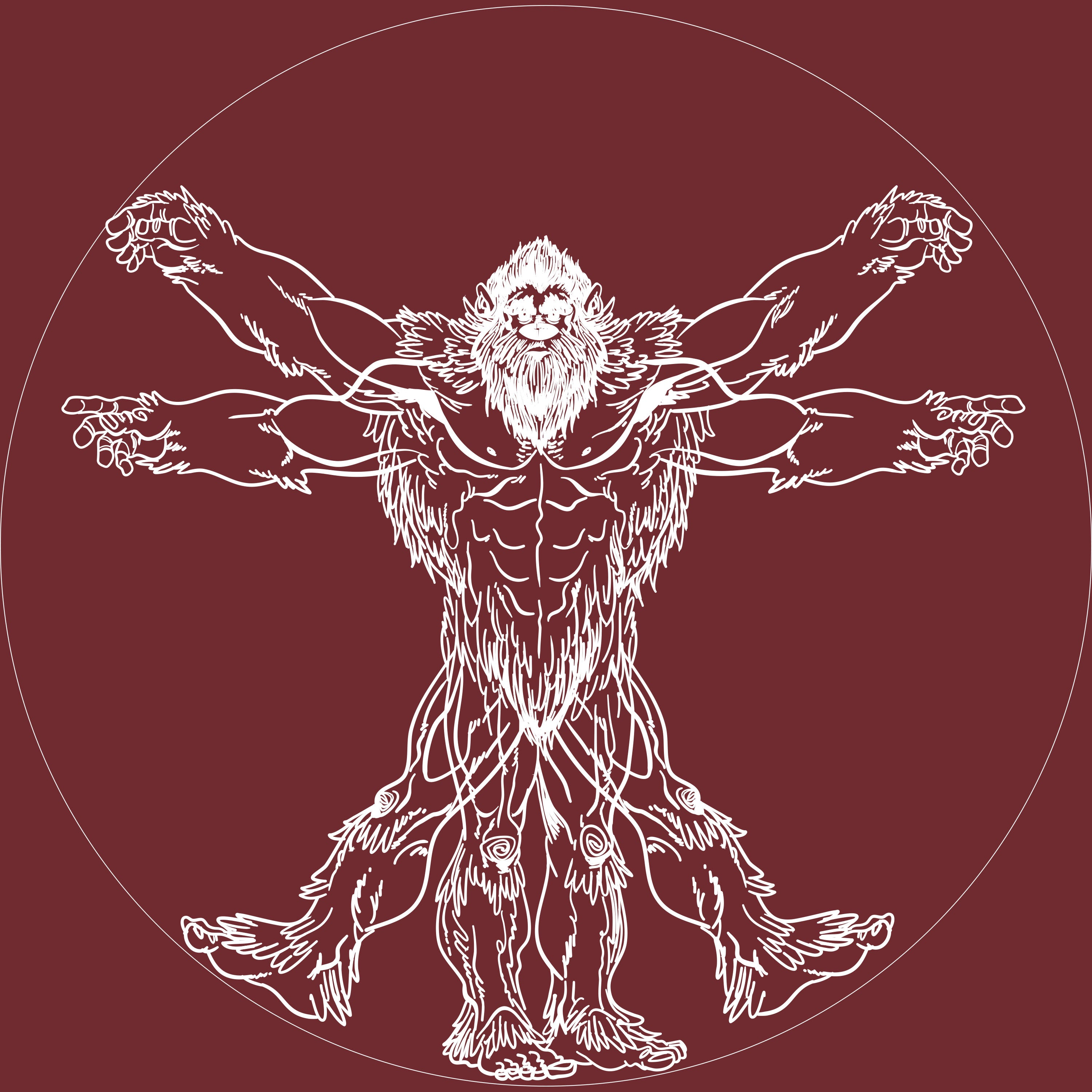 Vitruvian Bigfoot