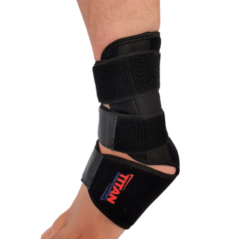velcro straps on ankle suppport
