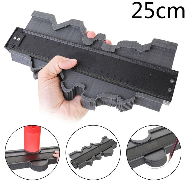 Onnfang Shape Gauge Duplicator Profile Duplication Gauge Contour Template Plastic Contour Copy Duplicator Measuring Tool