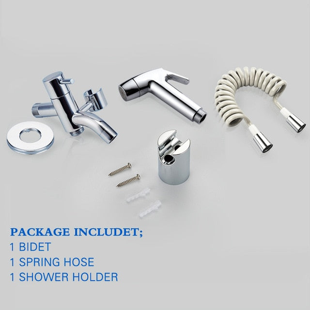 Handheld Bidet Spray Shower Set | ABS Toilet Sprayer Kit | Muslim Shattaf