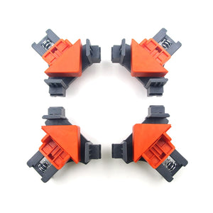 1/4 pcs 90 Degree Right Angle Clamp Fixing Clips Picture Frame Corner Clamp Woodworking Hand Tool Angle Clamps Pipe Clamp