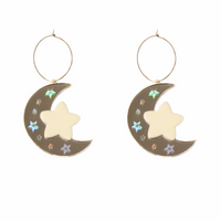 Holo Star Moon Hoops