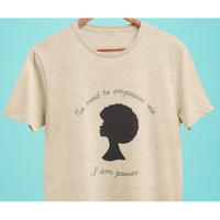 I am Power Oatmeal Tee Shirt