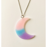 Pastel Moon Necklace - Purple