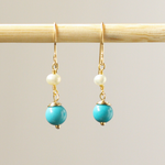 Pearl & Turquoise Earrings