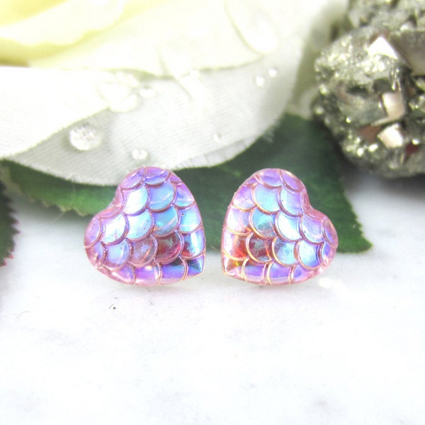 Mermaid Heart Earring