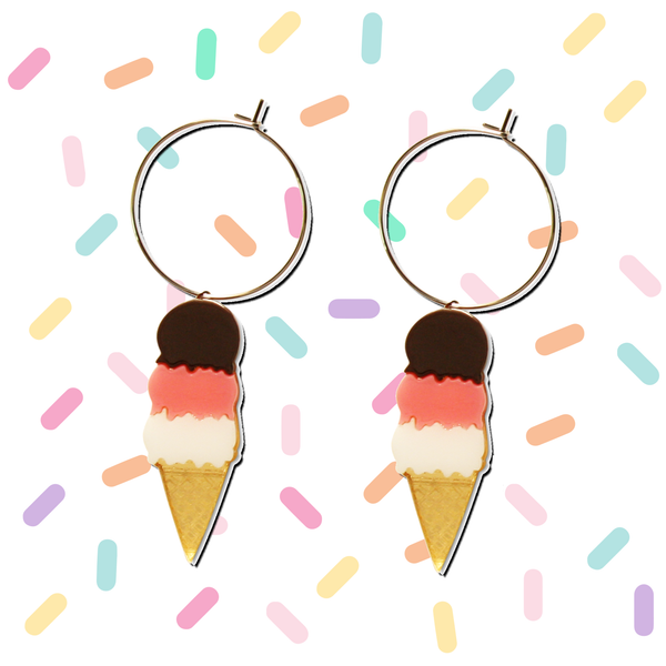 Triple Ice Cream Earring Hoop